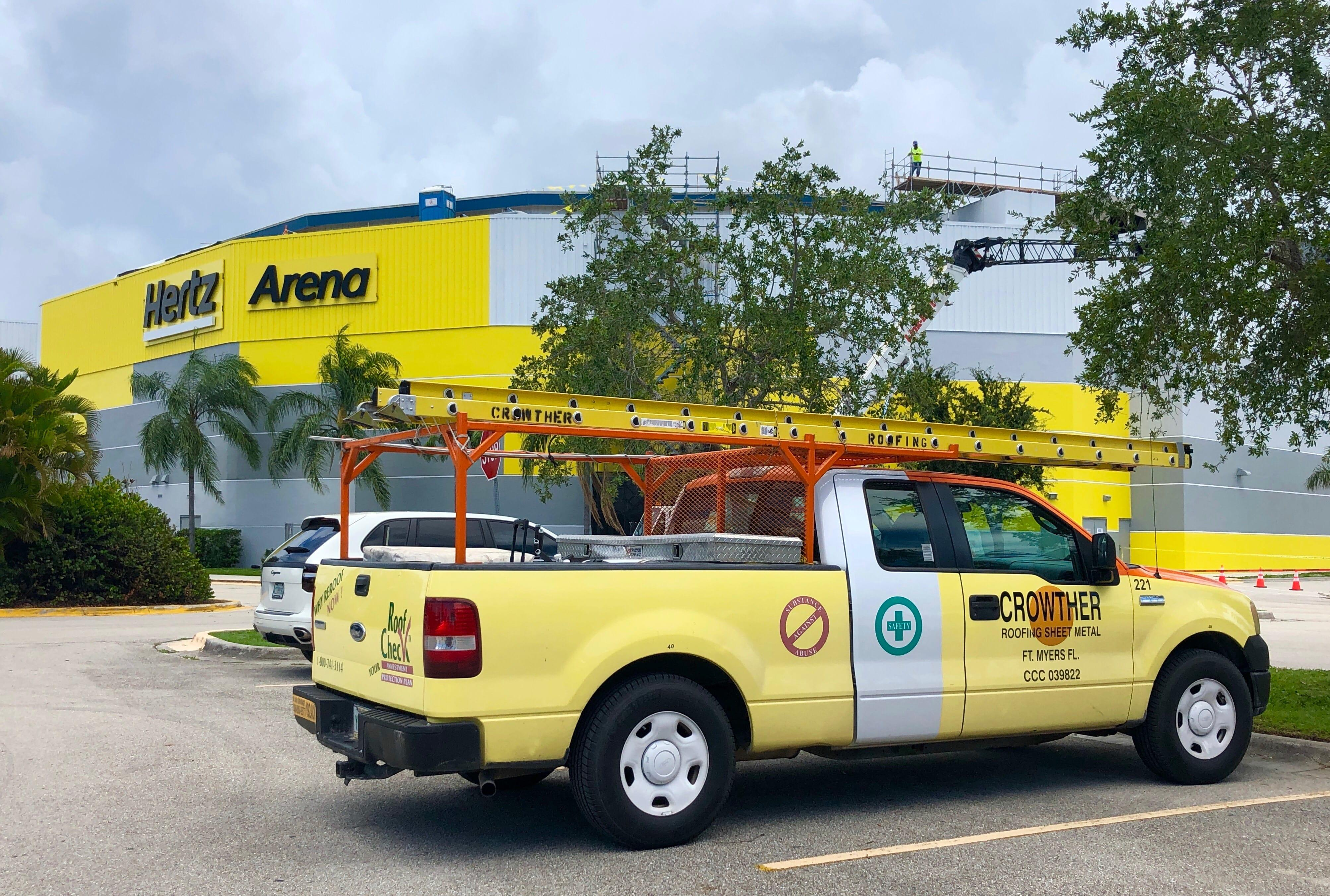 Crowther Roofing servicing Hertz Arena
