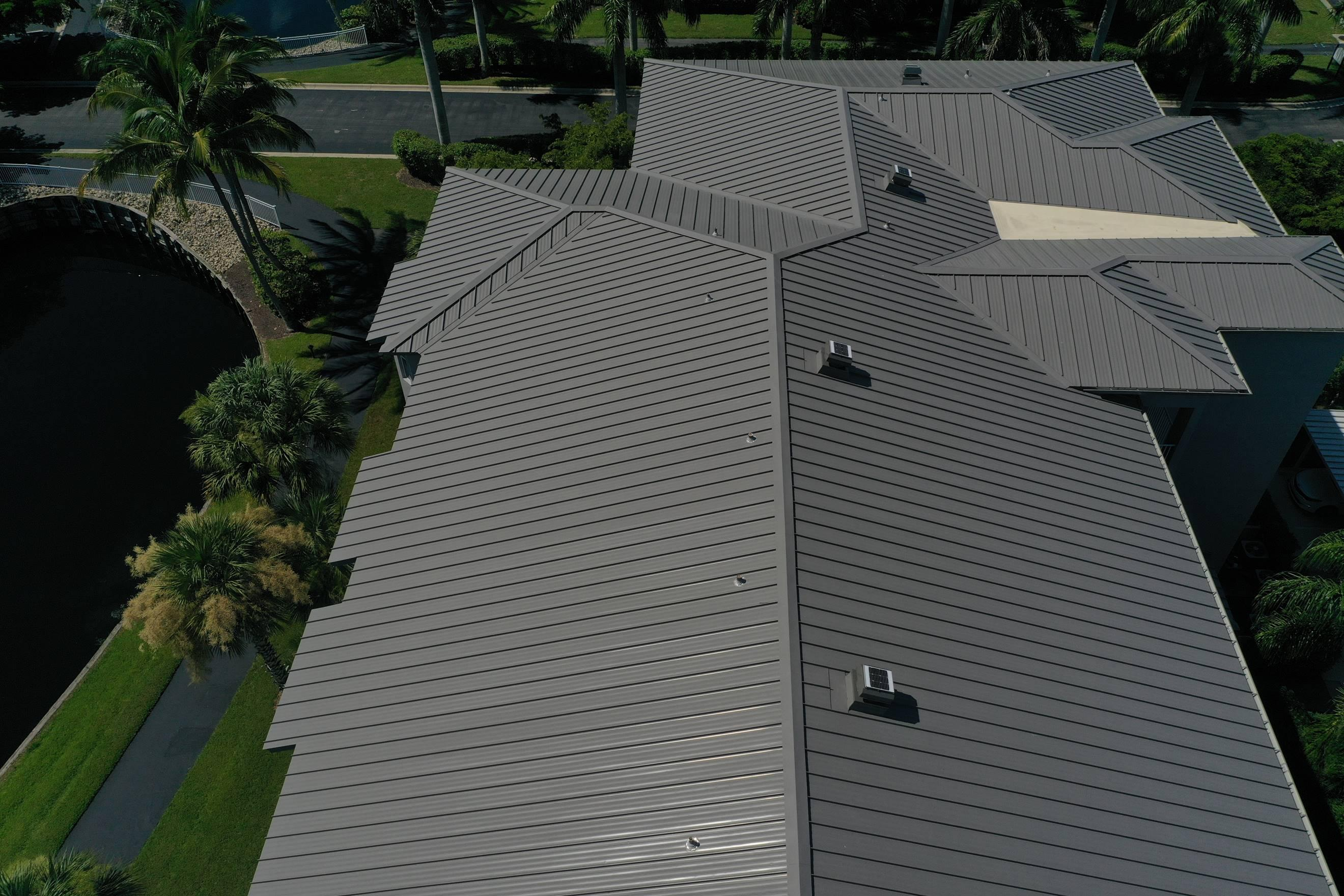Close-up of great roofing services