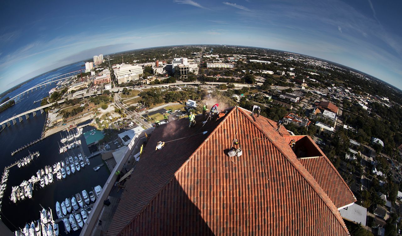 Aerial view from High Point Place in Fort Myers, Florida