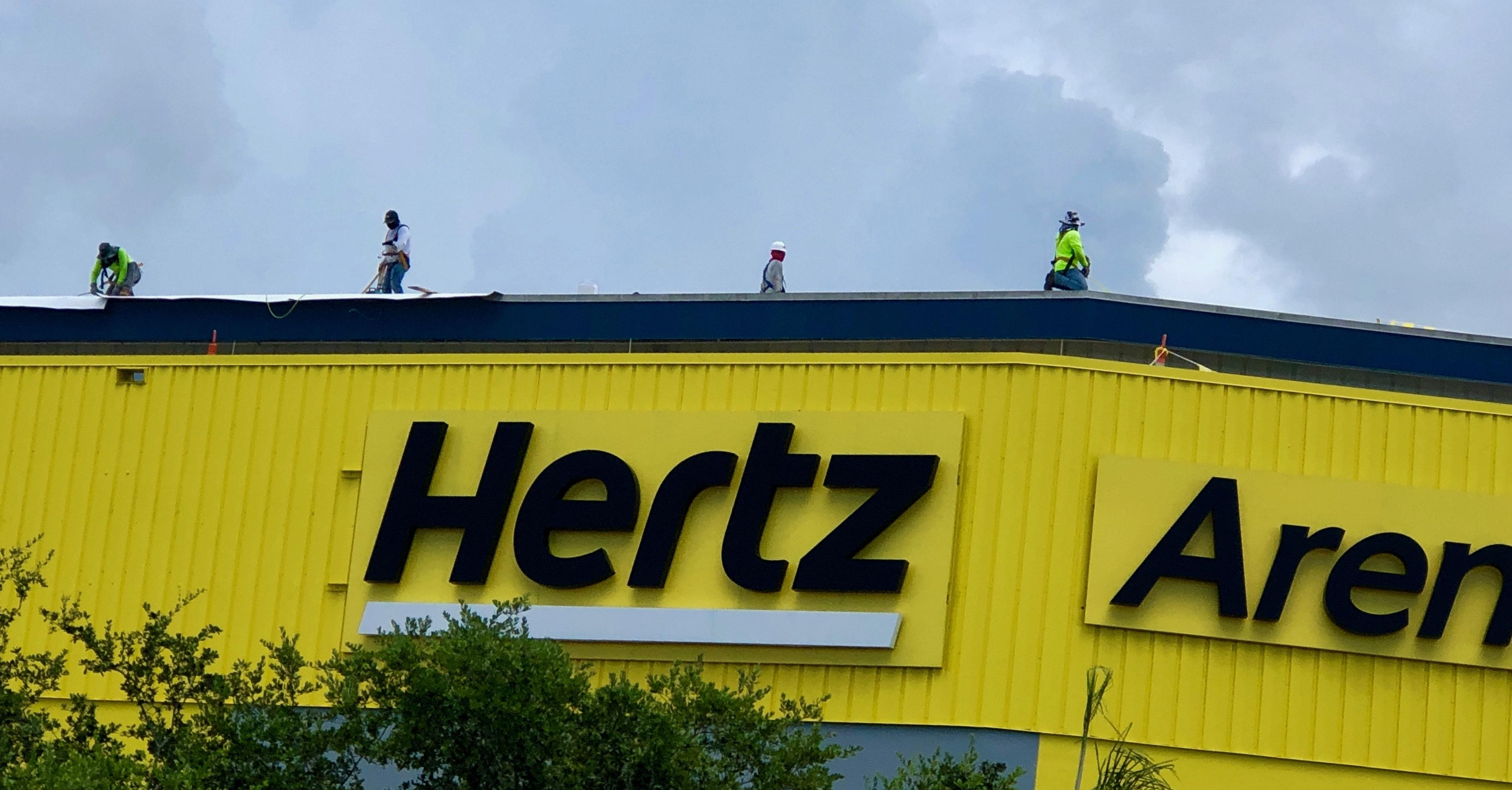 Re-roofing at Hertz Arena