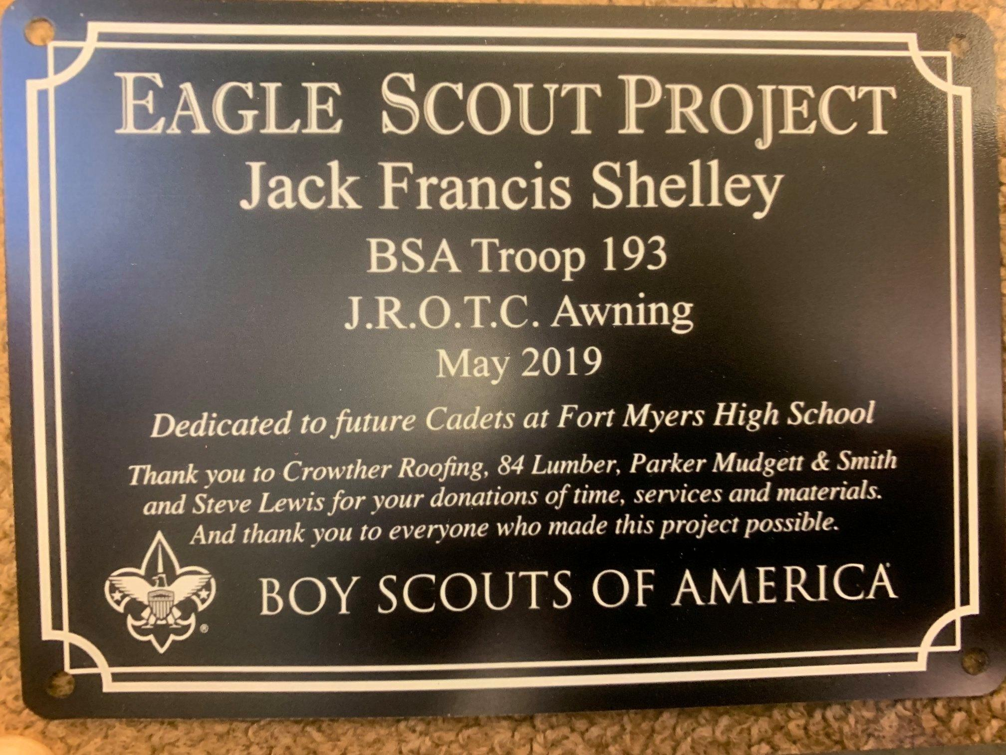 Jack Shelleys Eagle Scout Project Troop 193
