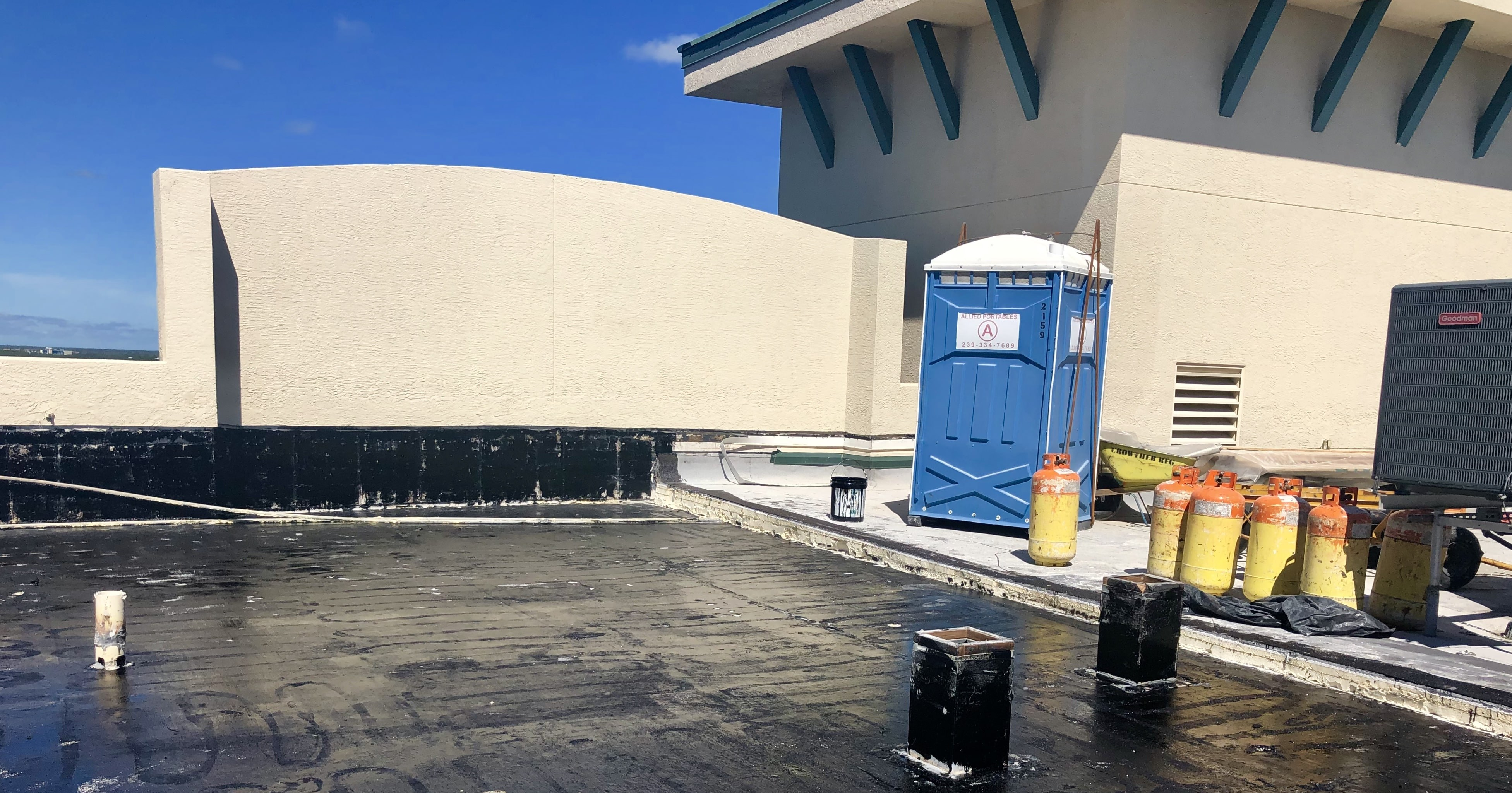 Roof Coating at North Star Yacht Club