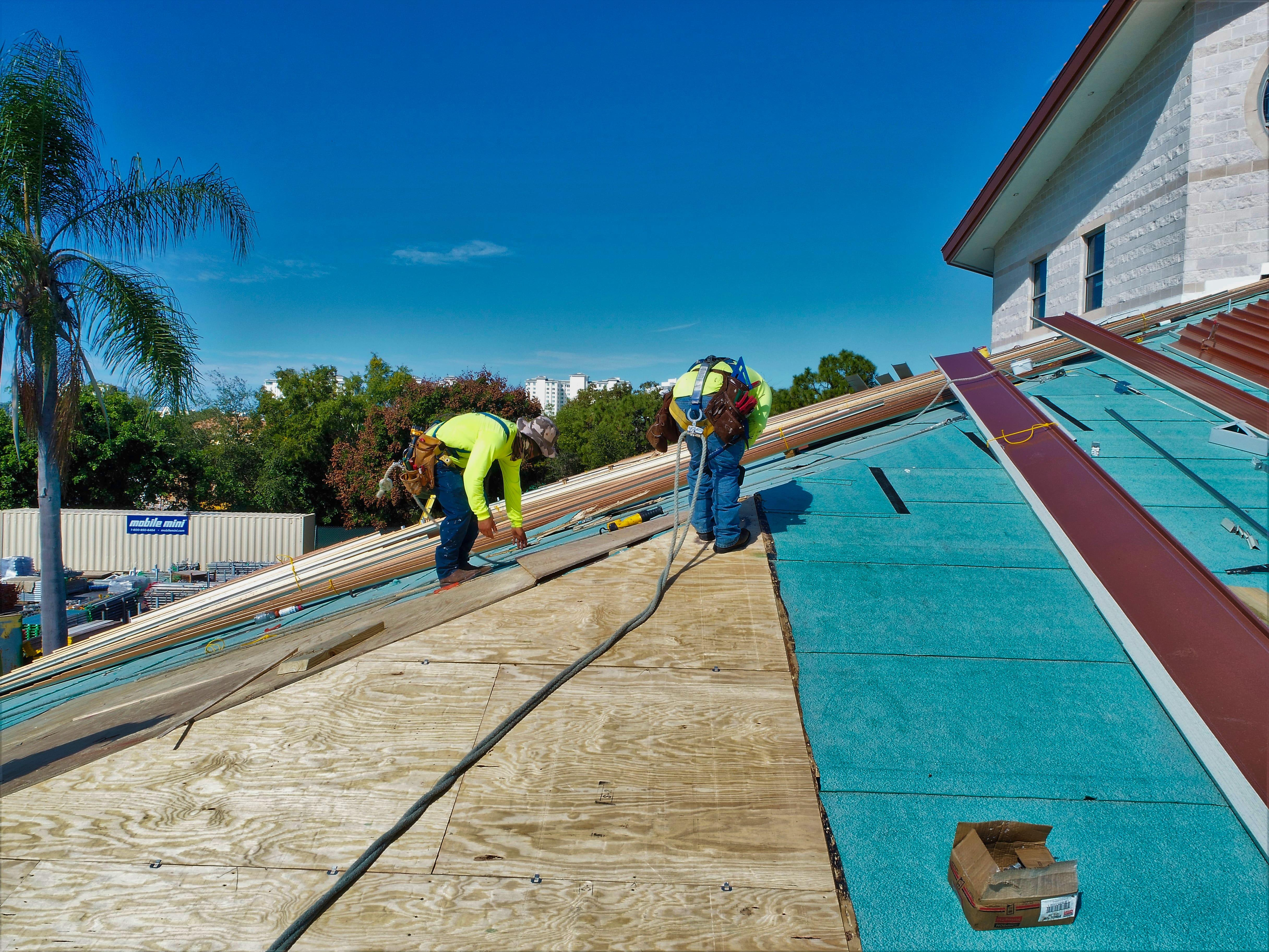 Roof repair at St. John The Evangelist Church in Naples