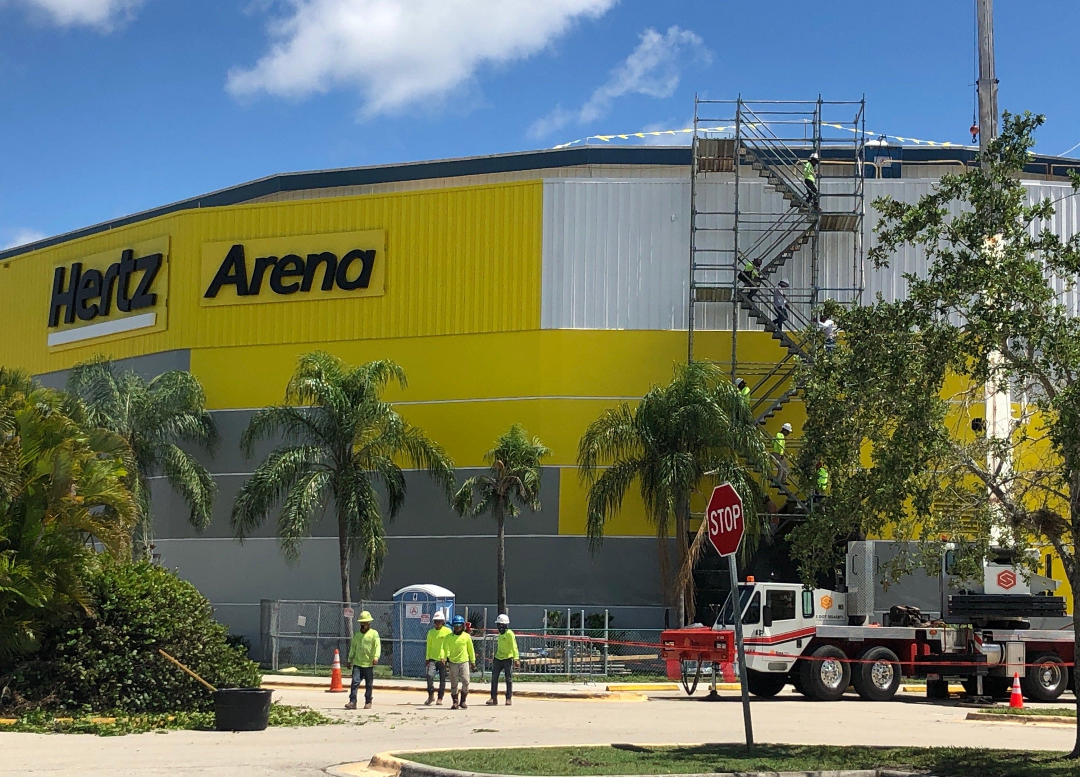 Scaffolding at Hertz Arena
